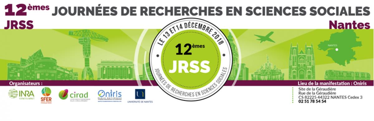 73031b21f66db0 Cap Aliment et Valorial ont le plaisir de vous inviter aux 12èmes Journées  de Recherches en Sciences Sociales (JRSS) les 13 et 14 décembre 2018 à  Oniris ...